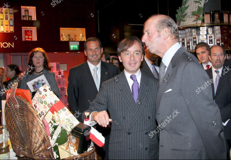 Julius Meinl and The Duke of Kent at the Meinl department store