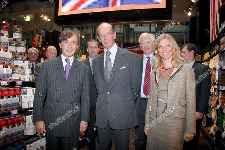 Julius Meinl, The Duke of Kent and Franziska Meinl at the Meinl department store