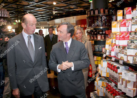 The Duke of Kent and Julius Meinl at the Meinl department store