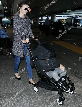 Stock Photo of Miranda Kerr and Flynn Bloom