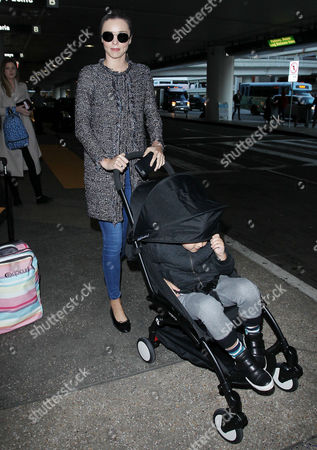 Editorial picture of Miranda Kerr at LAX International Airport, Los Angeles, America - 28 Dec 2015
