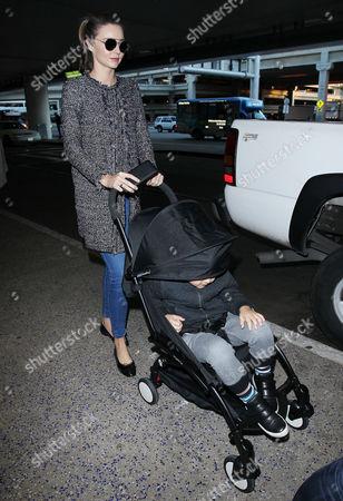 Editorial image of Miranda Kerr at LAX International Airport, Los Angeles, America - 28 Dec 2015