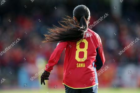 Homare Sawa #8 of Leonessa runs