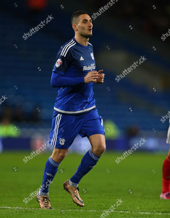 Federico Macheda of Cardiff City during the Sky Bet Championship match between Cardiff City and Nottingham Forest played at Cardiff City Stadium, Cardiff on 29th December 2015