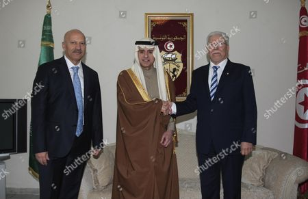 Editorial photo of Saudi Minister of Foreign Affairs Adel al-Jubeir visit to Tunisia - 30 Dec 2015