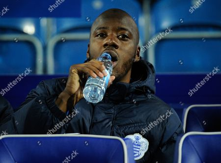 Samba Diakite of QPR during the Sky Bet Championship match between QPR and Hull City played at Loftus Road, London on the 1st of January 2016