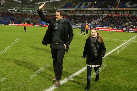 Stock Photo of Kevin Davies on the pitch during the Sky Bet Championship match between Bolton Wanderers v Huddersfield Town played at the Macron Stadium on January 2nd 2016
