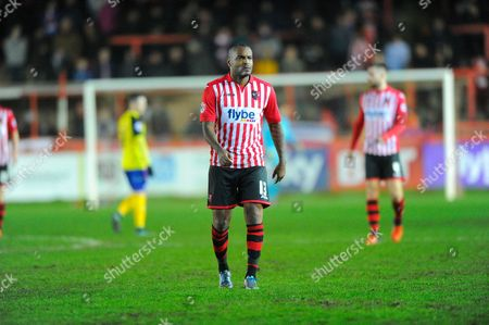 Exeter City's Clinton Morrison during the Sky Bet League 2 match between Exeter City and Dagenham and Redbridge at St James' Park, Exeter