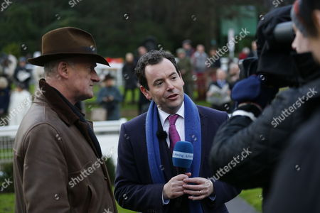 Nick Luck interviews Willie Mullins at Sandown for Channel 4 Racing after Yorkhill had won the 32Red Tolworth Novices Hurdle at Sandown.