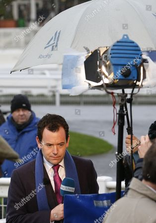 Nick Luck fronting Channel 4 Racing at Sandown.