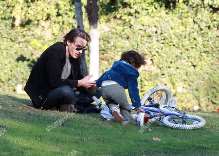 Editorial image of Olivier Martinez and son Maceo Robert Martinez out and about, Los Angeles, America - 31 Dec 2015