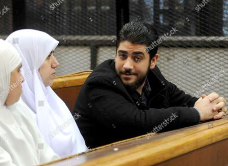 Relatives of Ousted Egyptian president Mohammed Morsi attend his trail as part of the so-called 'Qatar espionage' case