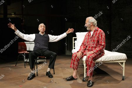 'What We Did to Weinstein' at the Menier Chocolate Factory Leonard Fenton and Harry Towb