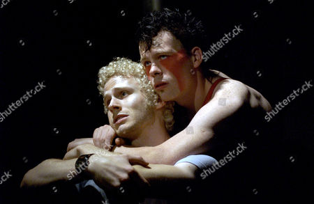 'HAIR' - L-R: CHARLES AITKEN AS 'CLAUDE' AND KEVIN WATHEN AS 'BERGER'