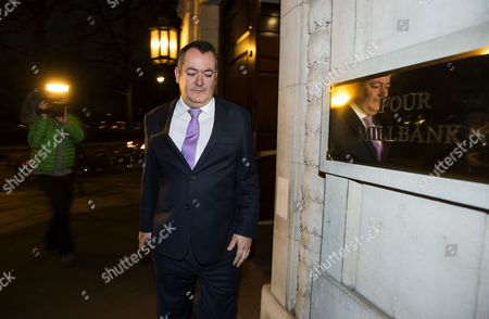 Former Shadow Secretary of State for Culture, Media and Sport, Michael Dugher leaving Milbank Studios on the day he lost his post in the Shadow Cabinet reshuffle.