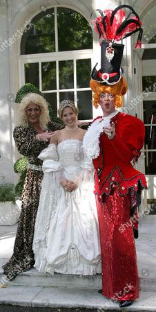 Drag artists Dave Lynn and Naomi Wilkinson