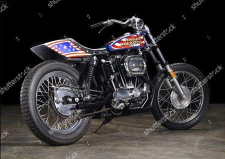 Evel Knievel motorbike from the film Viva Knievel!
