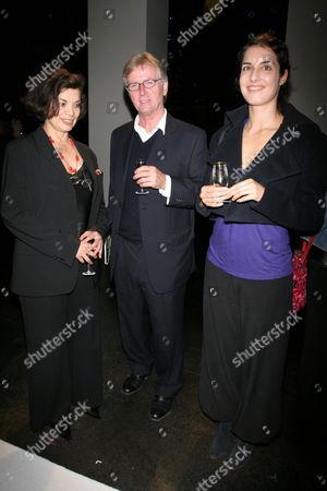 Bianca Jagger, Franc Roddam and Leila Ansari
