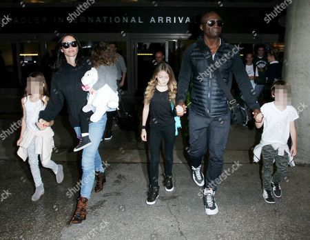 Editorial picture of Seal and Erica Packer at LAX International Airport, Los Angeles, America - 05 Jan 2016