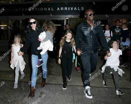 Editorial image of Seal and Erica Packer at LAX International Airport, Los Angeles, America - 05 Jan 2016