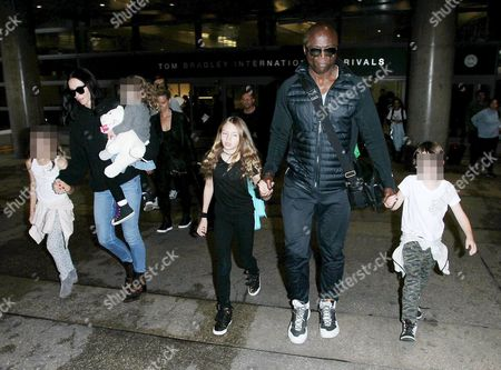 Stock Image of Erica Baxter and children with Leni Samuel and Seal