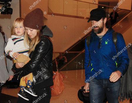 Olivia Wilde, son Otis Alexander and Jason Sudeikis