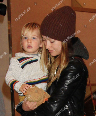 Stock Picture of Olivia Wilde with son Otis Alexander