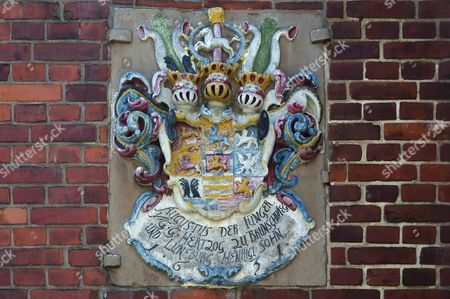 Coat of Arms, August the Younger (1579-1666), Duke of Brunswick-Luneburg, city hall, Hitzacker, Lower Saxony, Germany