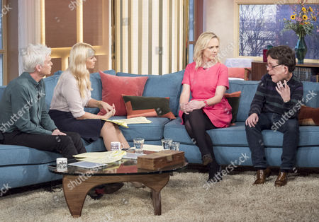 Stock Photo of Phillip Schofield, Holly Willoughby, Adam Pearson and Samantha Brick