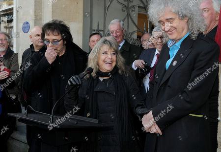 Tony Iommi, Suzi Quatro and Brian May
