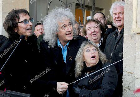 Tony Iommi, Brian May and Suzi Quatro