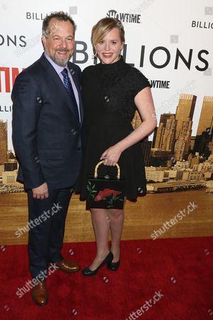 Stock Picture of David Costabile and Eliza Baldi