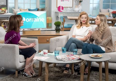 Stock Image of Lorraine Kelly with Amy-Beth Hayes and Sacha Parkinson