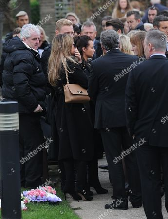 Stock Photo of The Wright Family and towie co stars arrive for the funeral of Nanny Pat.