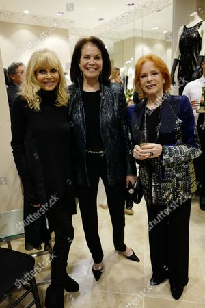 Stock Picture of Britt Ekland, guest and Luciana Paluzzi
