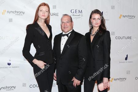 Caroline Silta, Norman Miller and Vasilisa Pavlova