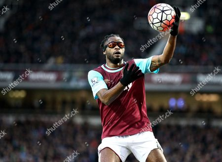 Alex Song of West Ham United   during the Emirates FA Cup 3rd Round between West Ham United and Wolverhampton Wanderers    played at Boleyn Ground on 9th January 2016 in London