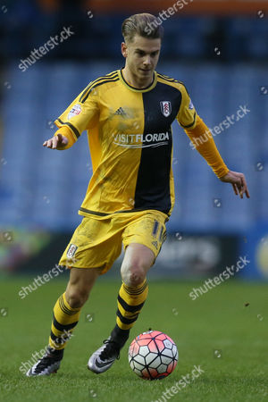 Alex Kacaniklic of Fulham during the FA Cup 3rd round match between Sheffield Wednesday v Fulham played at the Hillsborough Stadium on January 9th 2016