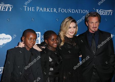 David Banda, Mercy James, Madonna and Sean Penn