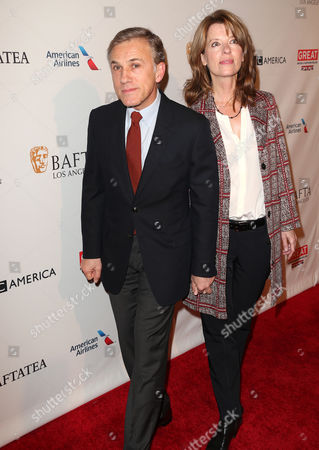 Stock Picture of Christoph Waltz, Judith Holste