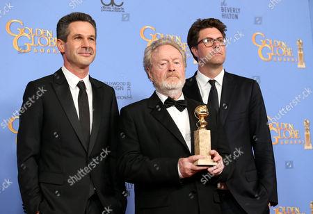 Stock Photo of Simon Kinberg, Ridley Scott and Michael Schaefer