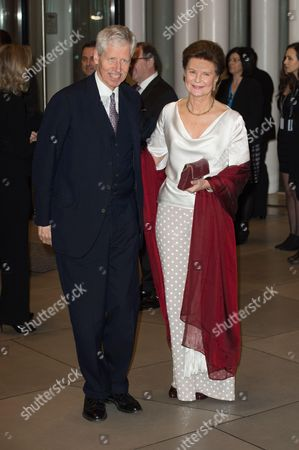 Princess Margaretha of Liechtenstein and Prince Nicolaus of Liechtenstein attend a celebration on the 95th anniversary of Grand Duke of Luxembourg at the Luxembourg Philharmonic Orchestra