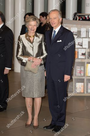 Austrian Princess Marie Astrid and Archduke Carl Christian attend a celebration on the 95th anniversary of Grand Duke of Luxembourg at the Luxembourg Philharmonic Orchestra