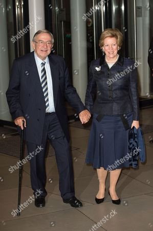 King Constantine and Queen Anne Marie attend a celebration on the 95th anniversary of Grand Duke of Luxembourg at the Luxembourg Philharmonic Orchestra