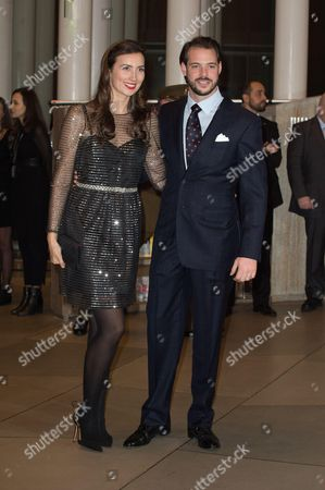 Prince Felix and Princess Claire of Luxembourg attend a celebration on the 95th anniversary of Grand Duke of Luxembourg at the Luxembourg Philharmonic Orchestra