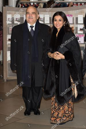 Prince Hassan bin Talal and Princess Sarvath El Hassan of Jordan attend a celebration on the 95th anniversary of Grand Duke of Luxembourg at the Luxembourg Philharmonic Orchestra