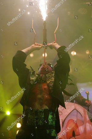 Hannibal Helmurto swallowing a firework sword