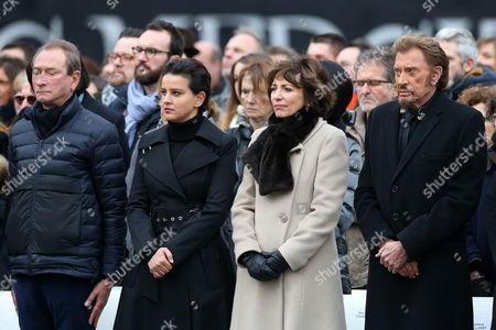 Bertrand Delanoe ; Minister of National Education, Najat Vallaud-Belkacem ; Minister of Health, Marisol Touraine and Johnny Hallyday