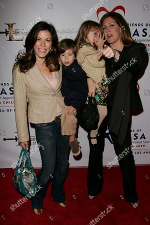 Tricia Leigh Fisher and Son, Joely Fisher and Daughter Skyler