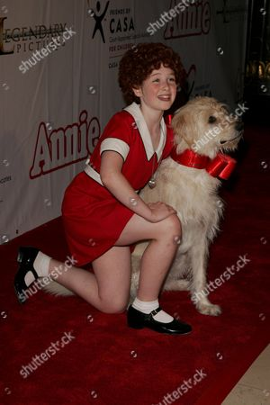 Stock Picture of Marissa O'Donnell (Annie and Dog Sandy)